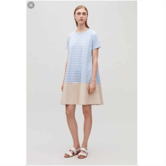24ad561f28 COS Dresses   Skirts - COS Contrast Panel Jersey Dress from